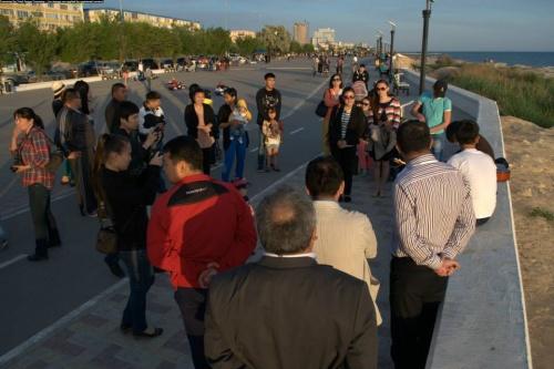 AitaberPress: Каспий жағасындағы алғашқы party, Домбыра party 23.05.2013ж
