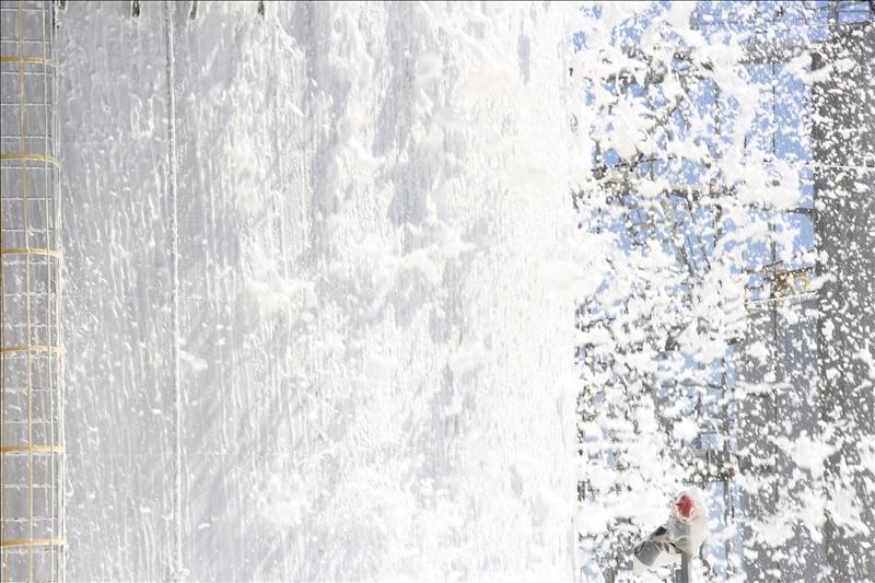 Ал сол кезде...: Мұнай өңдеу зауытындағы өртке қарсы оқу-жаттығу жиыны