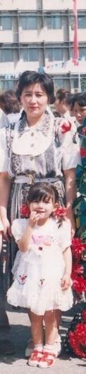 1997 жылғы сурет. анам - Мира және Мен.