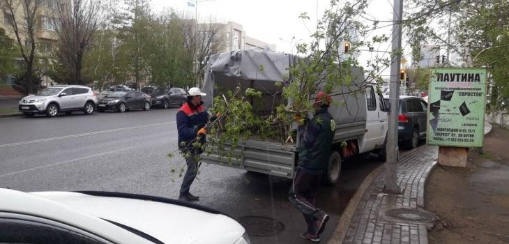 Астана жаңалықтары: Астана әкімінің жетекшілігімен қатты желдің салдарын жою бойынша жедел штаб отырысы өткізілді