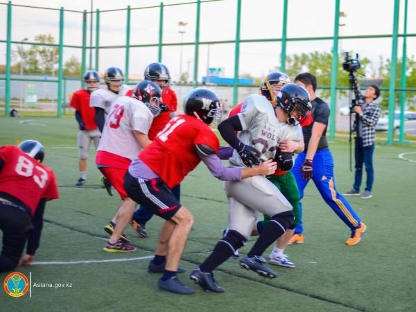 Астана жаңалықтары: Astana Wolves - Американдық футболдың астаналық қасқырлары